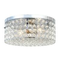 "All the Rages FM1003 Elegant Designs 2 Light 12"" Wide Flush Mount Ceiling Fixture"