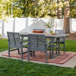 Link to Hydaburg 5-piece Patio Extension Dining by Havenside Home Similar Items in Patio Furniture