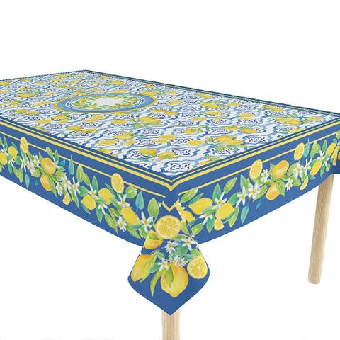Lovely Lemons 70x84 Tablecloth