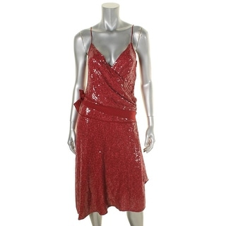 Diane Von Furstenberg Womens Brenndah Party Dress Silk Sequined