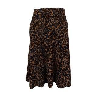Alfani Women's Printed A-Line Knit Skirt - S