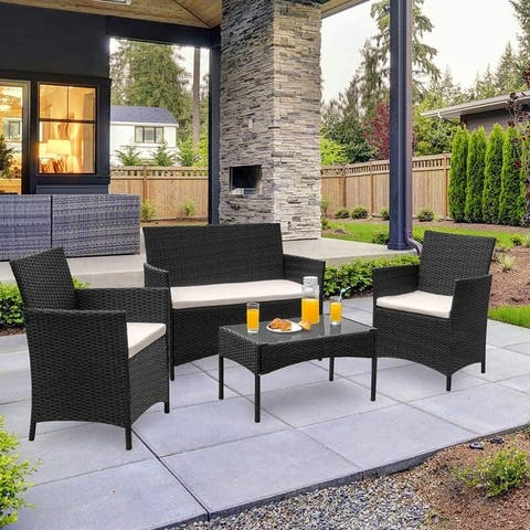 CAYNEL 4 Pieces Outdoor Patio Furniture Set