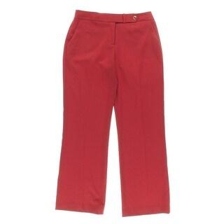 Calvin Klein Womens Petites Dress Pants Classit Fit Ankle