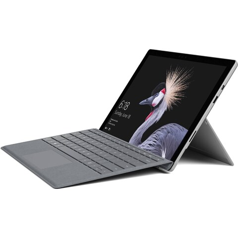 "Microsoft Surface Pro 12.3"" 128GB with Platinum Signature Type Cover (2017, Wi-Fi Only, Silver)"