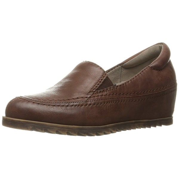 Naturalizer Womens Harker Leather Round Toe Loafers, Brown, Size 7.0