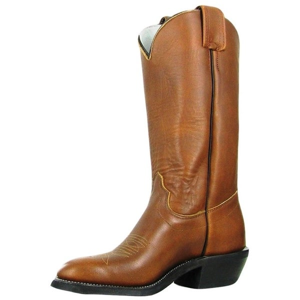 Olathe Western Boots Mens Leather Cowboy Nitrene Sole Brown Mule