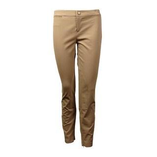 Lauren Ralph Lauren Women's Faux Suede-Trim Welt Pocket Pants