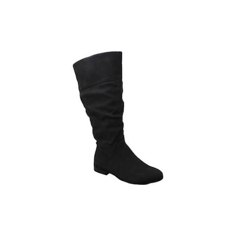 Style & Co. Womens Kelimae Suede Almond Toe Mid-Calf Fashion Boots