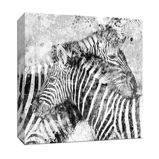 "PTM Images 9-146928  PTM Canvas Collection 12"" x 12"" - ""Zebra Pair"" Giclee Safari Animals Art Print on Canvas"