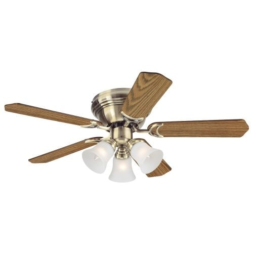 """Westinghouse 7851000 Contempra Trio 42"""" 5 Blade Hugger Indoor Ceiling Fan with Reversible Motor, Blades, and Light Kit Included"""