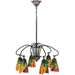 """Meyda Tiffany 104887 26"""" W Iris 6 Light Chandelier"""
