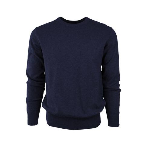 Solid Crew Neck 100% Cotton Sweater For Men From Marquis