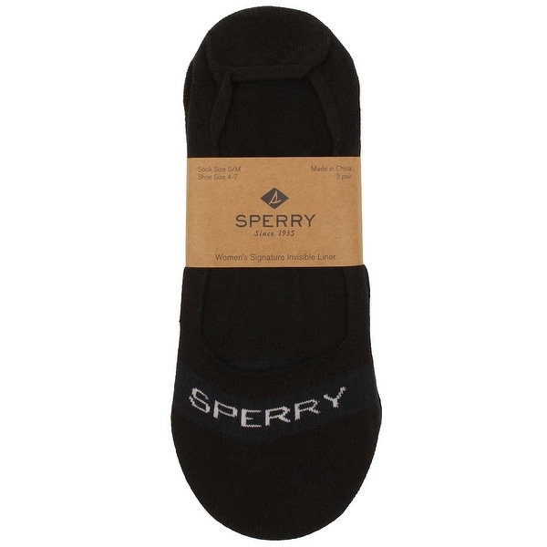 Sperry Womens Invisible Liner Socks in Black