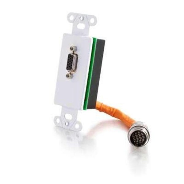 C2G 60085 RapidRun HD15 Wallplate White