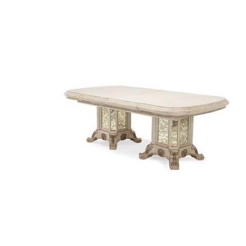 AICO Platine de Royale Champagne Rectangular Wood Dining Table - Reclaimed Barn