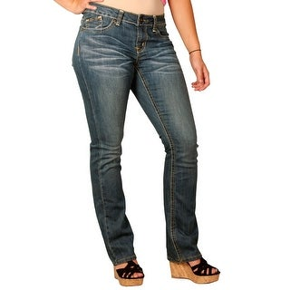 Zana-Di Womens Junior Plus Fashion Jeans, Medium Stonewash (2 options available)