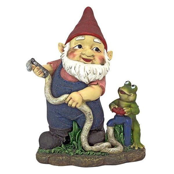 Design Toscano Firefighter Franz and his Frog Fire Brigade Garden Gnome Statue