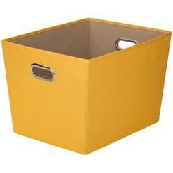 "Yellow - Large Decorative Storage Bin 18.5""X14.5""X12.9"""