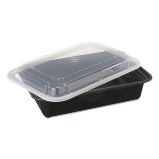 6 W x 8.5 D x 2 H in. Versatile Container - Black & Clear, 38