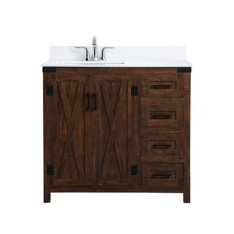 Darrel Bathroom 36 Inch Vanity Set