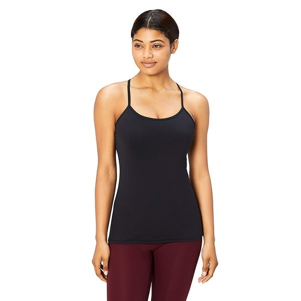 Core 10 Women's Yoga Fitted Support Tank, black, Medium - 8. Opens flyout.