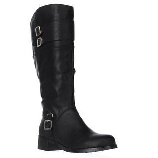 Bella Vita Adriann II Wide Calf Knee High Boots, Black