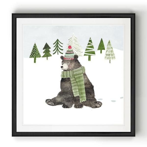 Woodland Christmas IV -Black Framed Print. Opens flyout.