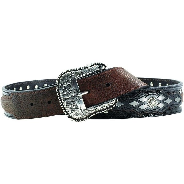 Ariat Western Belt Mens Austin Tooled Black Oiled Rowdy