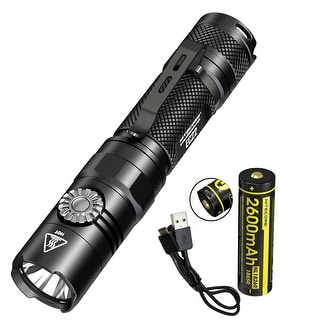 NITECORE EC22 1000 Lumen Infinite Brightness LED Flashlight w/ USB Rechargeable Battery