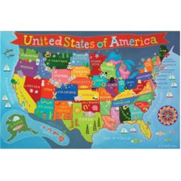 Shop Round World Products RWPKM02 24 x 36 in. United States Map for ...