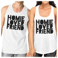 Homie Lover Friend Couples Workout Outfits White Matching Tank Tops