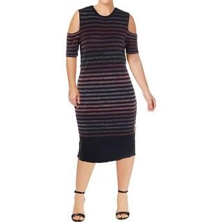 Rachel Rachel Roy Womens Plus Bodycon Dress Cold Shoulder Sheath