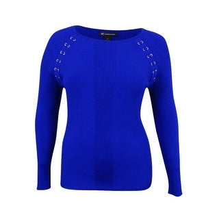 INC Inernational Concepts Women's Lace-Up Sweater