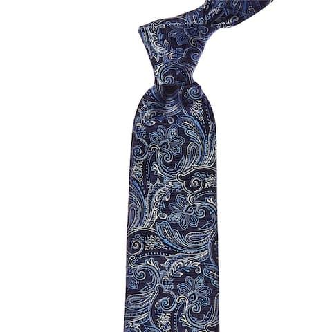 Eton Blue Paisley Silk Tie - os