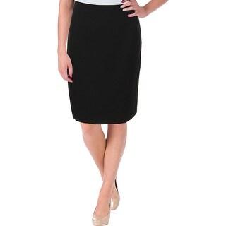 Le Suit Womens Petites Prague Pencil Skirt Woven Knee-Length
