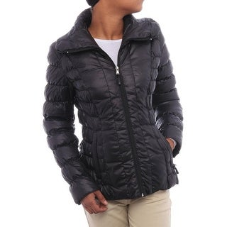 Kenneth Cole NY Women Packable Down Puffer Black