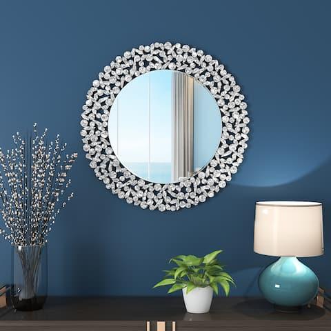KOHROS Modern Round Art Decoration Wall Mounted Mirror