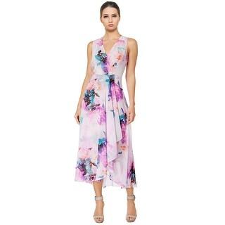 Calvin Klein Floral High Low Midi Cocktail Dress
