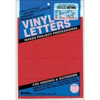 Permanent Adhesive Vinyl Letters & Numbers 2'' 167/Pkg-Red