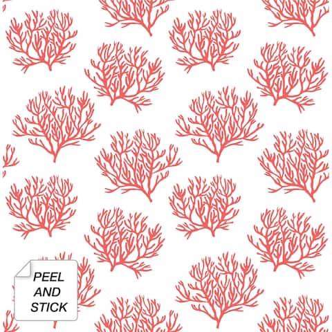 NextWall Coastal Coral Reef Peel and Stick Wallpaper