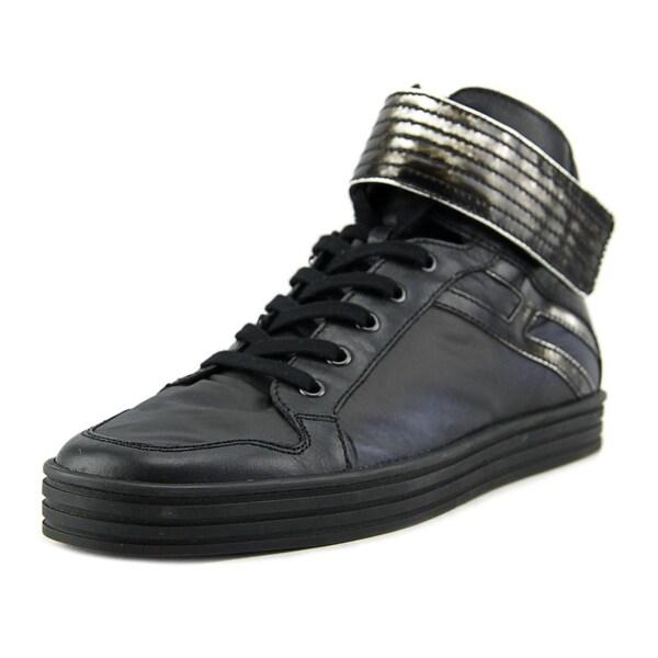 Hogan R141 Nuovo Basket Strap Men Synthetic Black Fashion Sneakers
