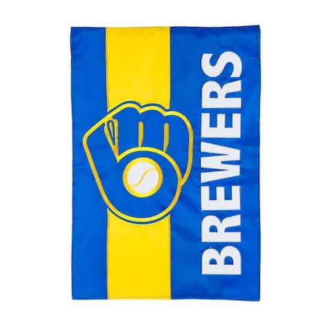 "Milwaukee Brewers 12.5"" x 18"" Decorative Team Flag"