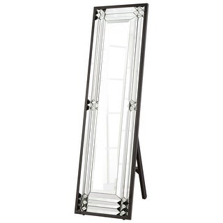 "Cyan Design 8730 Optika 55"" Tall Beveled Glass Standing Mirror - Black"
