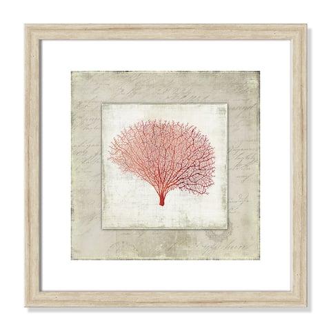 Coral Linen II - 17.5'' x 17.5''