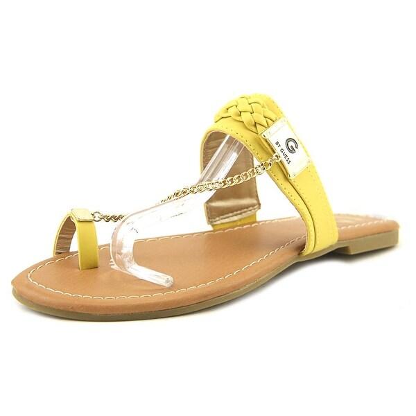 91351d511f0 Shop G By Guess Limitt Women Open Toe Synthetic Yellow Thong Sandal ...