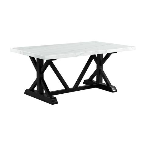 """Picket House Furnishings Stratton 70"""" Marble Standard Height Dining Table"""