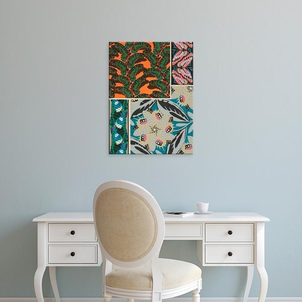 Easy Art Prints Eugene Seguy's 'Decorative Butterflies II' Premium Canvas Art