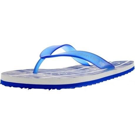 Calvin Klein Ashton Rubber Mens Blue Synthetic Flip Flops Slip On Sandals Shoes