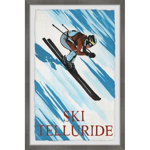 'Ski Telluride' Framed Painting Print