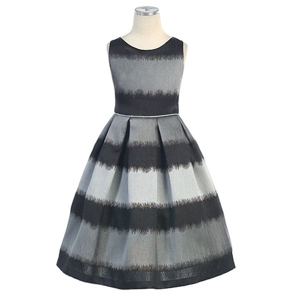 84e8f1040be70 Sweet Kids Black Metallic Christmas Special Occasion Dress Girl 3T